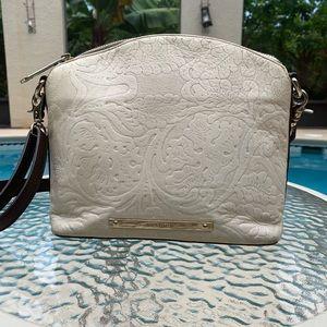 Brahmin cream colored crossbody bag